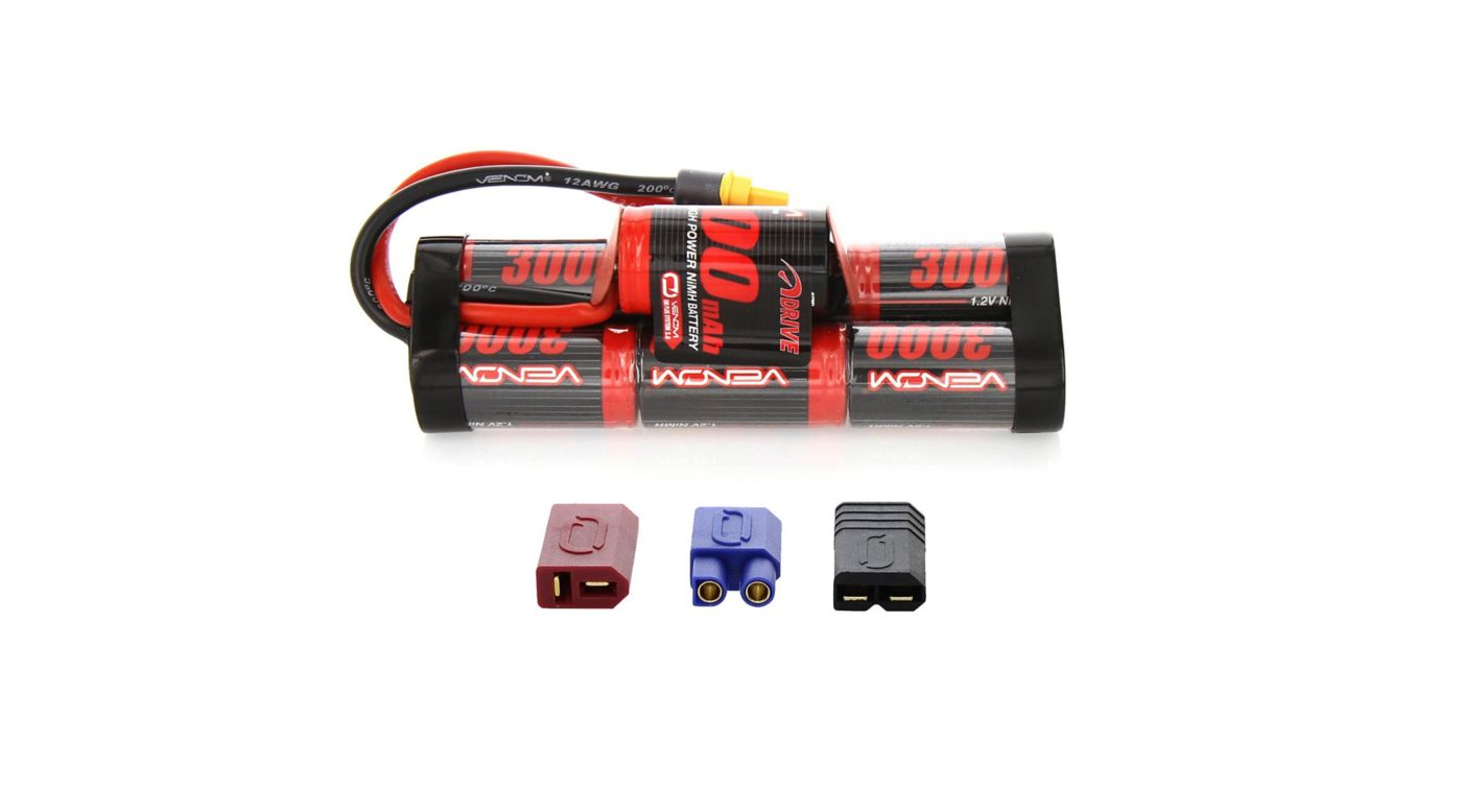 Image for 8.4V 3000mAh 7-Cell DRIVE Hump NiMH Battery: UNI 2.0 Plug from HorizonHobby