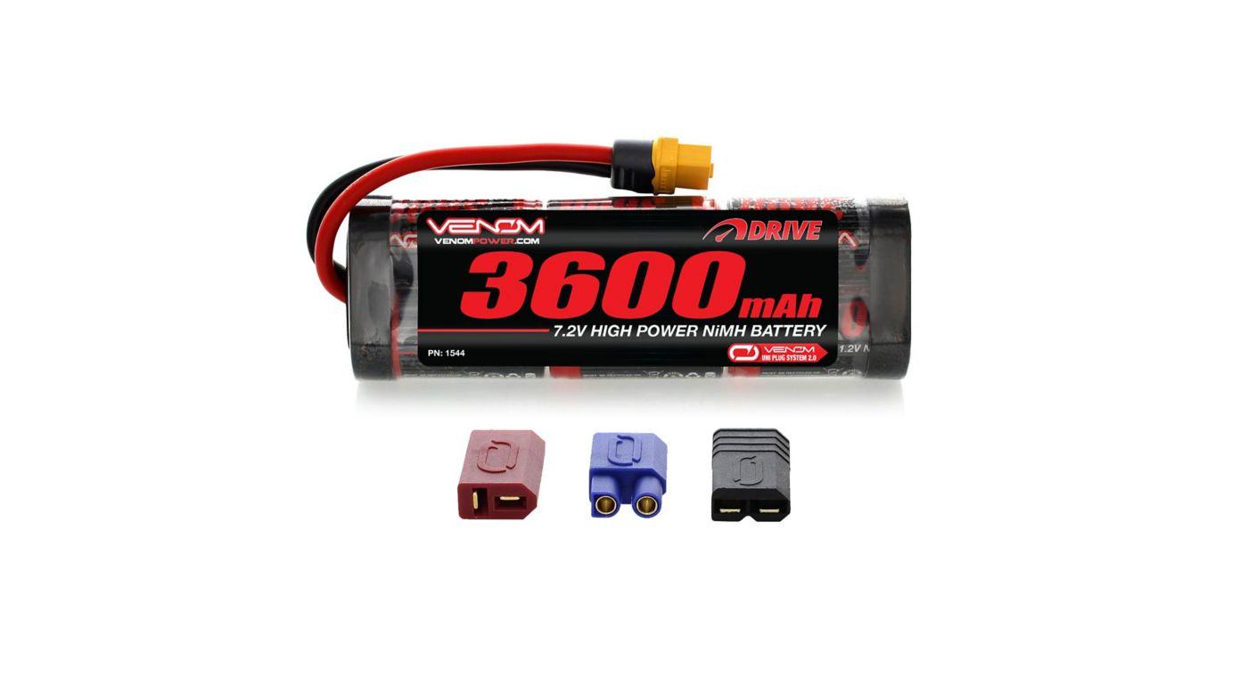 Image for DRIVE 7.2V 3600mAh 6-Cell NiMH Battery, Flat, UNI 2.0 Plug from HorizonHobby