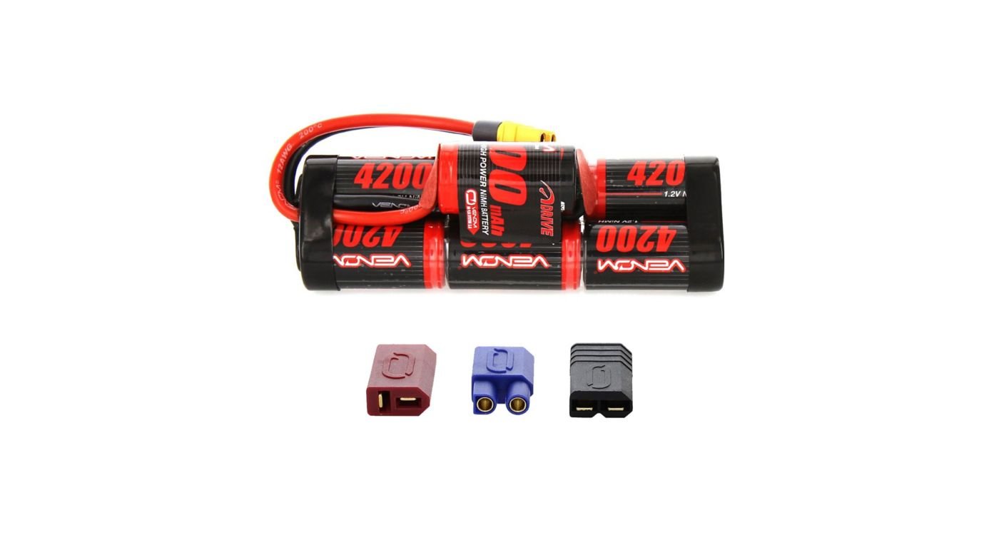 Image for 8.4V 4200mAh 7-Cell DRIVE Hump NiMH Battery: UNI 2.0 Plug from HorizonHobby