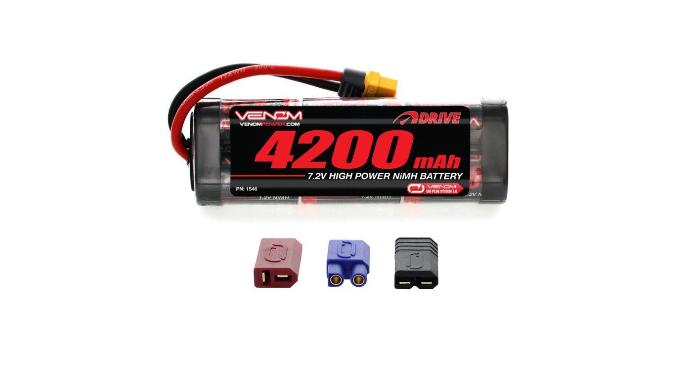 Image for 7.2V 4200mAh 6-Cell DRIVE Flat NiMH Battery: UNI 2.0 Plug from HorizonHobby