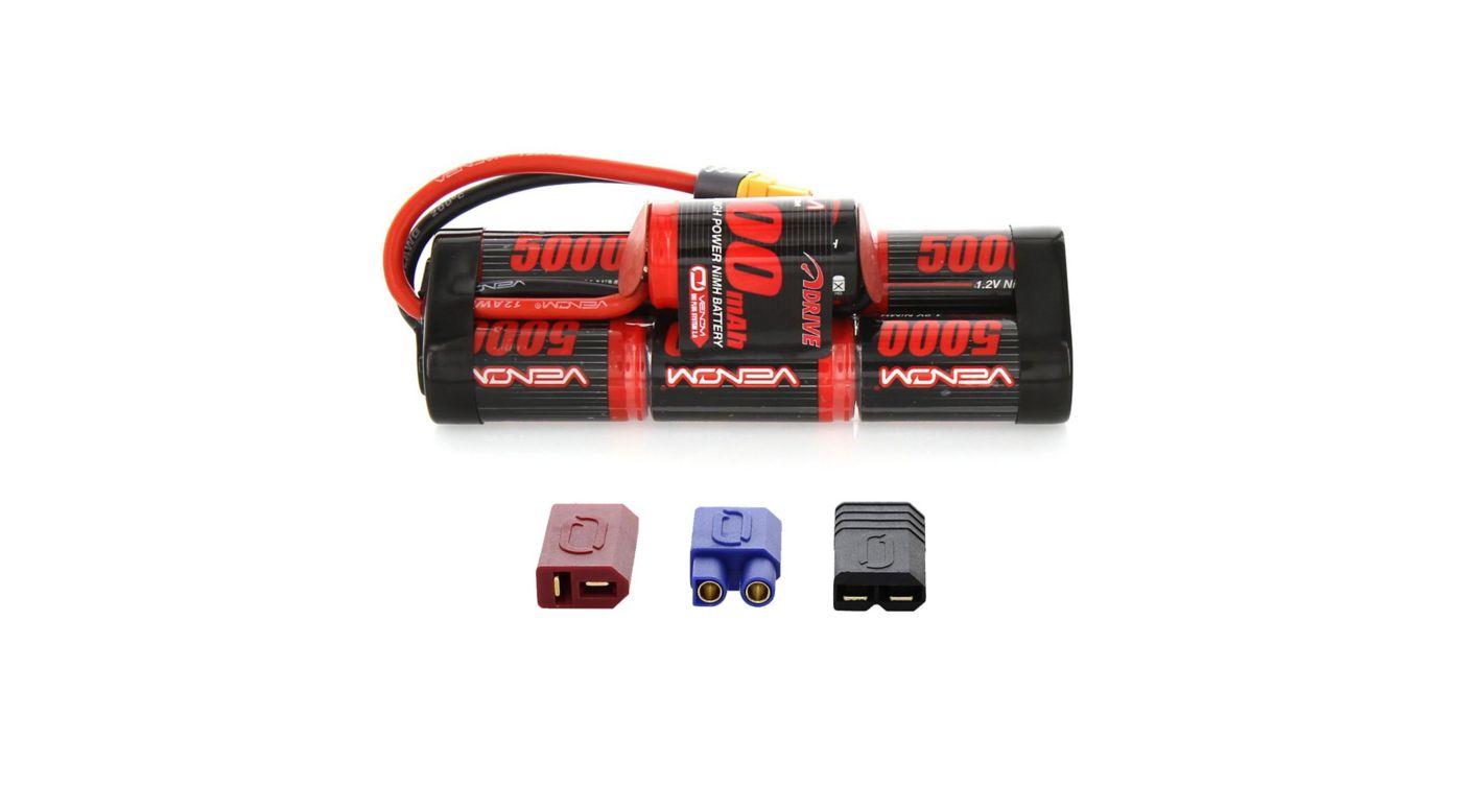 Image for DRIVE 8.4V 5000mAh 7-Cell NiMH Battery, Hump, UNI 2.0 Plug from HorizonHobby