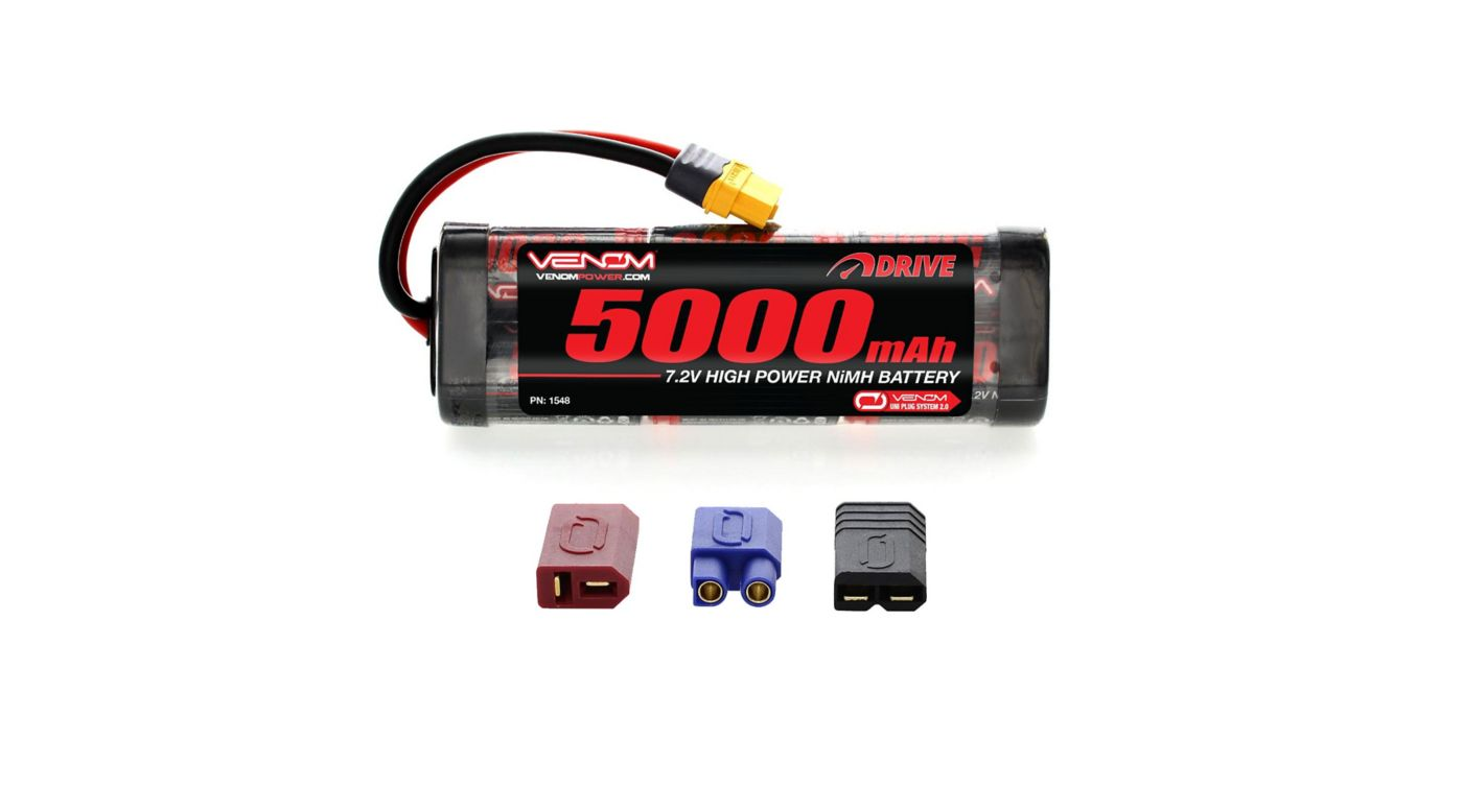 Image for 7.2V 5000mAh 6-Cell DRIVE Flat NiMH Battery: UNI 2.0 Plug from HorizonHobby