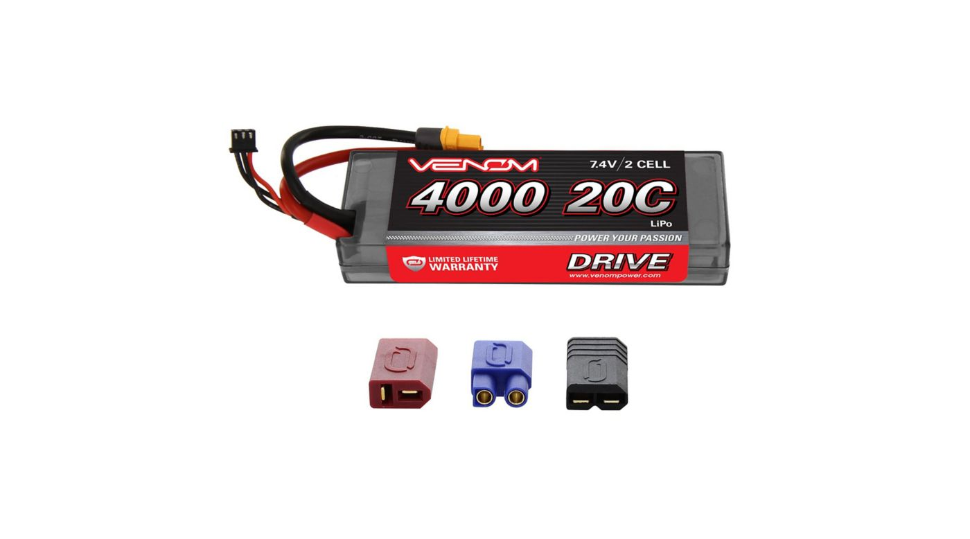 Image for 7.4V 4000mAh 2S 20C DRIVE LiPo Battery: UNI 2.0 Plug from HorizonHobby