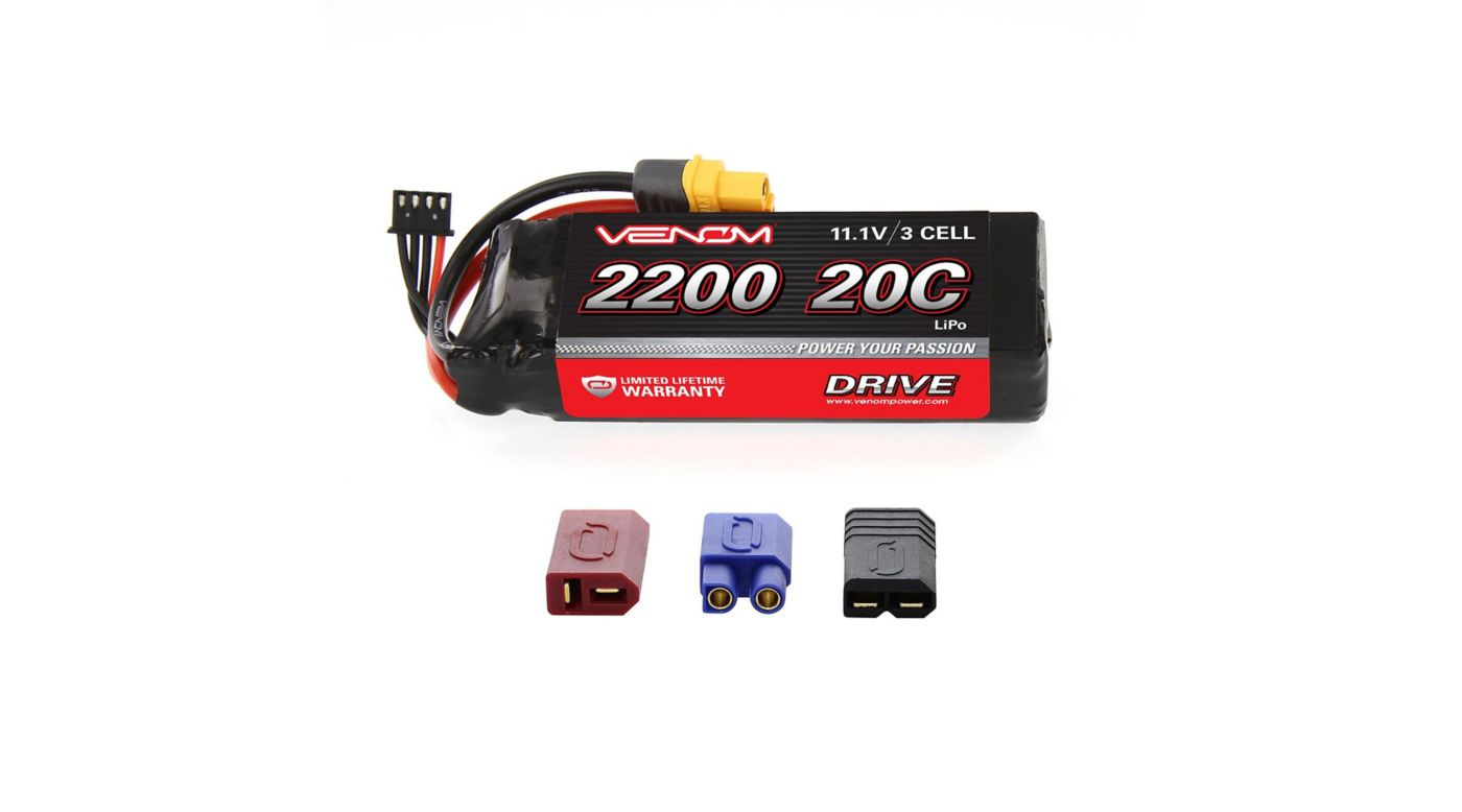 Image for DRIVE 11.1V 2200mAh 20C 3S LiPo Battery, UNI 2.0 Plug from HorizonHobby