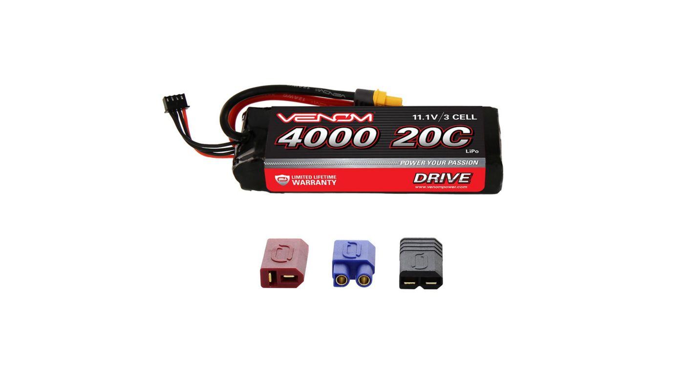 Image for DRIVE 11.1V 4000mAh 20C 3S LiPo Battery, UNI 2.0 Plug from HorizonHobby