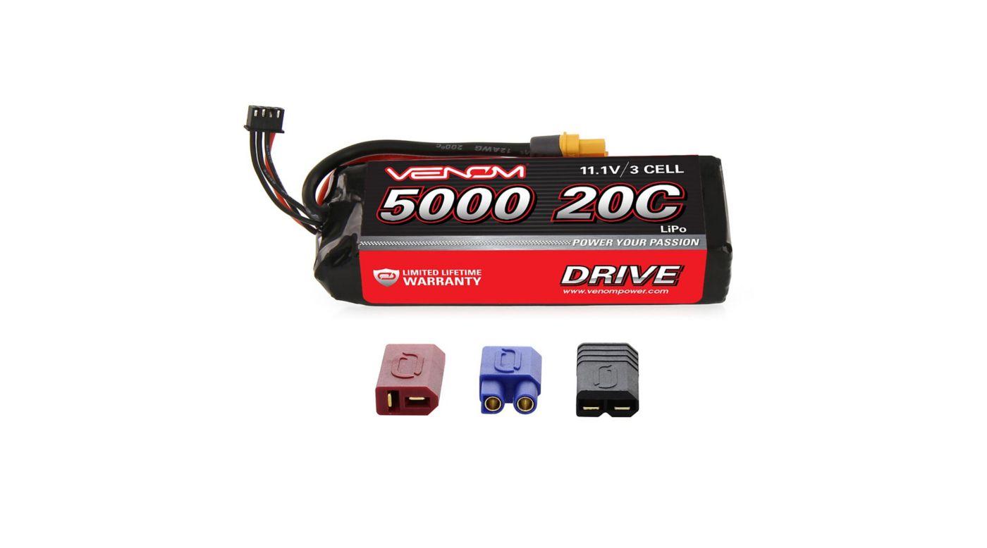 Image for 11.1V 5000mAh 3S 20C DRIVE LiPo Battery: UNI 2.0 Plug from HorizonHobby