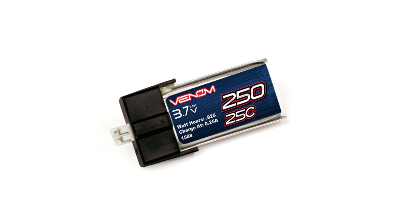 Image for 25C 3.7V 250mAh 1S LiPo: MCPX from HorizonHobby