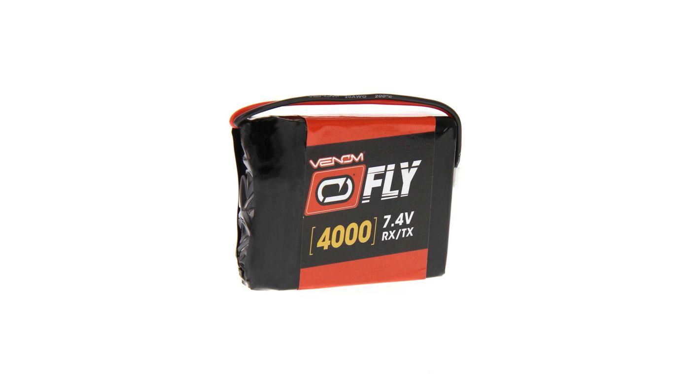Image for 7.4V 4000mAh 2S LiPo Transmitter Battery: TX Plug from HorizonHobby