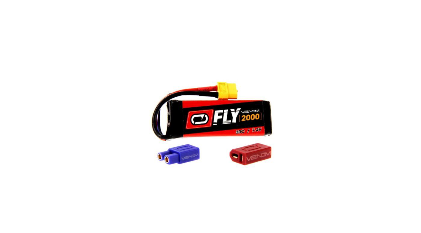 Image for 7.4V 2000mAh 2S 30C FLY LiPo Battery: UNI 2.0 Plug from HorizonHobby