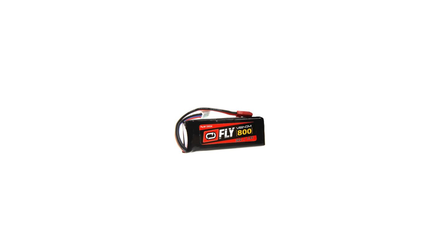 Image for 7.4V 800mAh 2S 30C FLY LiPo Battery: JST from HorizonHobby