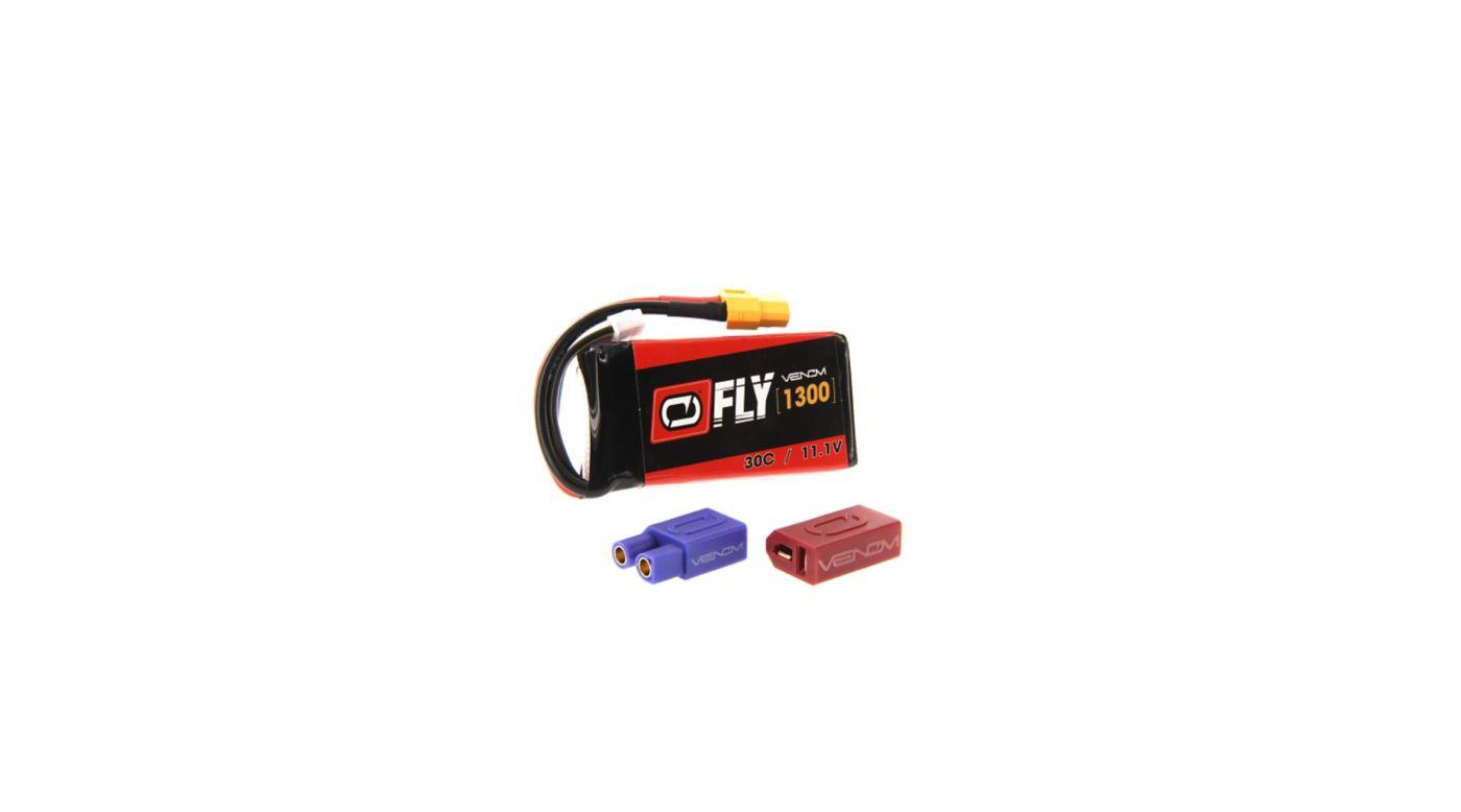 Image for 11.1V 1300mAh 3S 30C FLY LiPo Battery: UNI 2.0 Plug from HorizonHobby