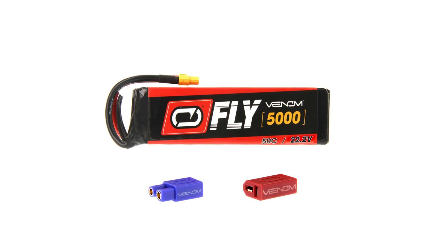 Image for Fly 22.2V 5000mAh 50C 6S LiPo, UNI 2.0 from HorizonHobby