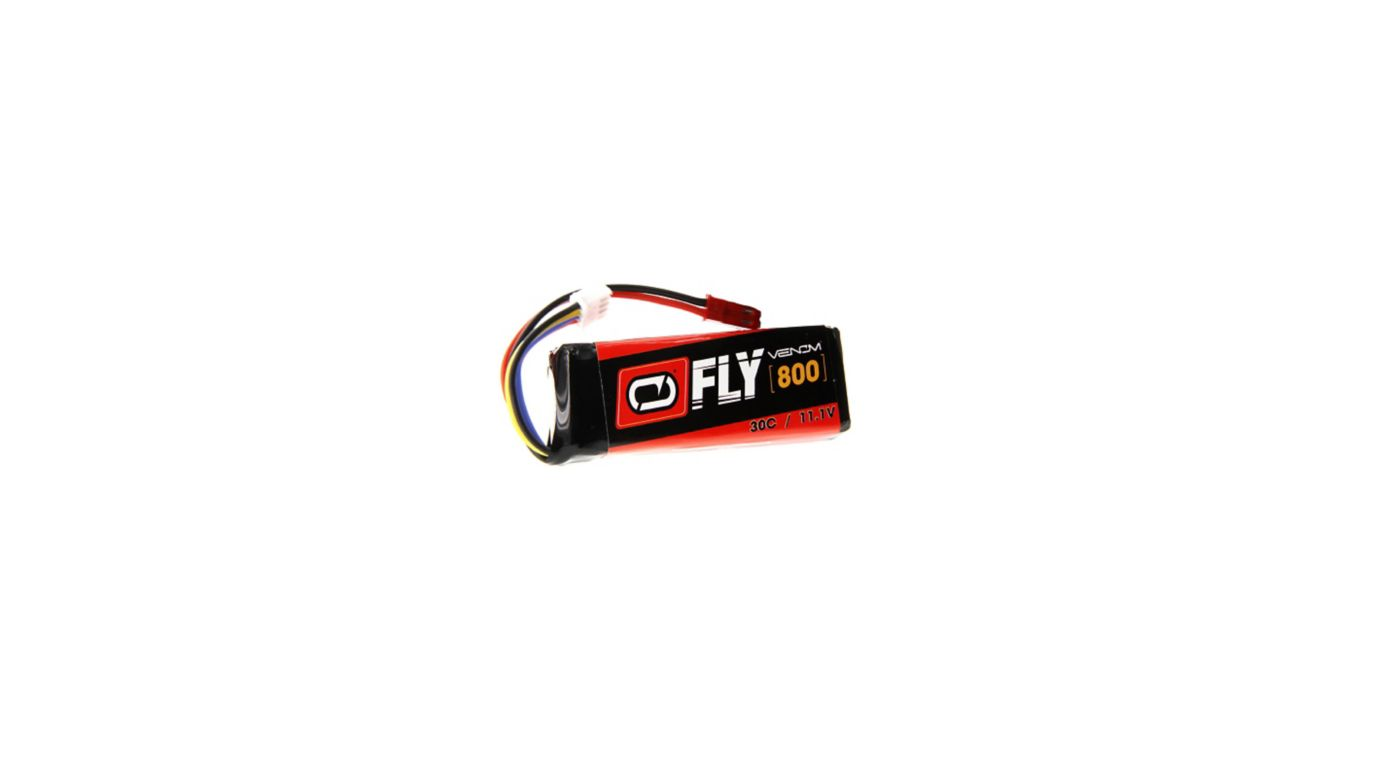 Image for Fly 11.1V 800mAh 30C 3S LiPo, JST from HorizonHobby
