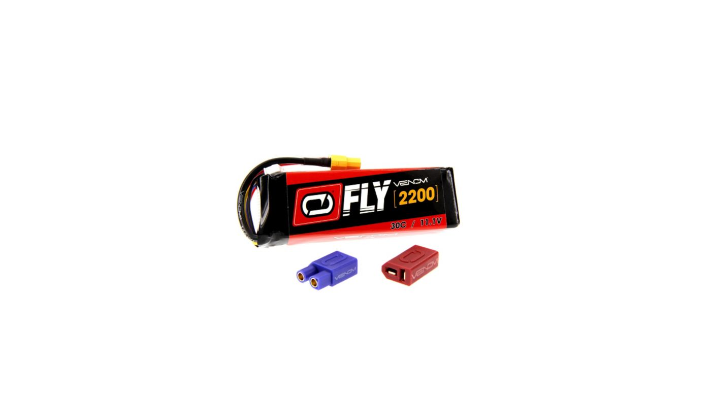 Image for 11.1V 2200mAh 3S 30C FLY LiPo Battery: UNI 2.0 Plug from HorizonHobby