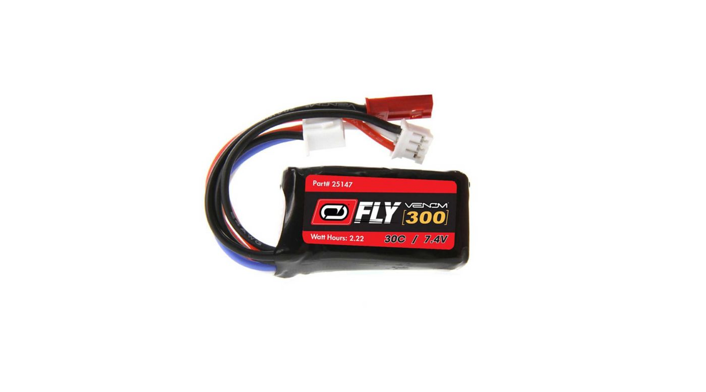 Image for 7.4V 300mAh 2S 30C LiPo Battery: JST, PH Plug (2) from HorizonHobby