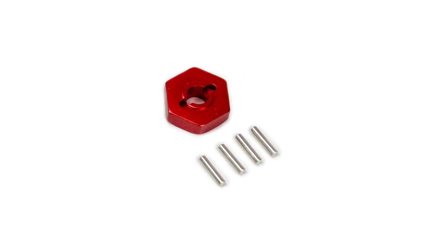 Image for Red Aluminum Wheel Hex Adapter: TRA Slash from HorizonHobby