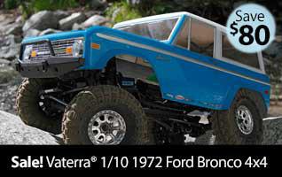 Vaterra 1/10 1972 Ford Bronco 4x4 Ascender Brushed RTR RC