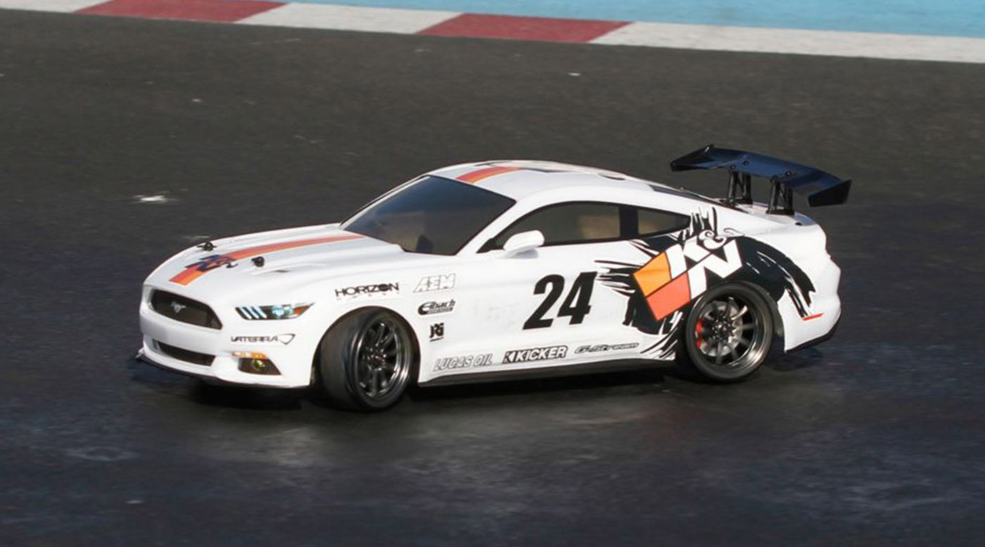 Image for 1/10 2015 K&N Ford Mustang GT V100 Drift 4WD Brushed RTR from HorizonHobby