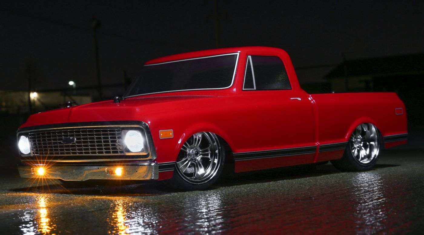 Image for 1/10 1972 Chevy C10 Pickup Truck V-100 S 4WD Brushed RTR, Red from HorizonHobby