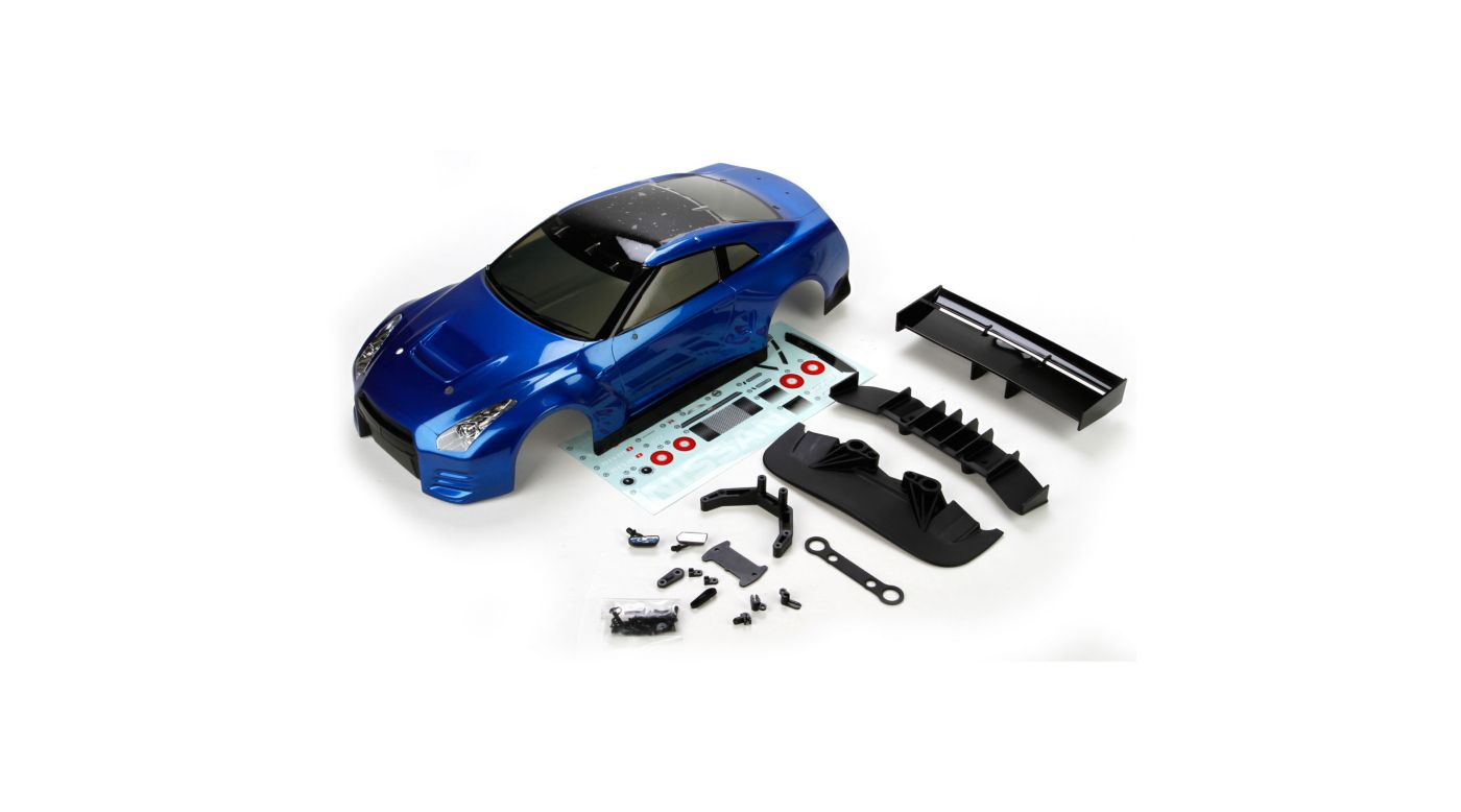 Image for Body Set, Painted Dark Blue: 1/10 2012 Nissan GTR GT3, V100 from HorizonHobby