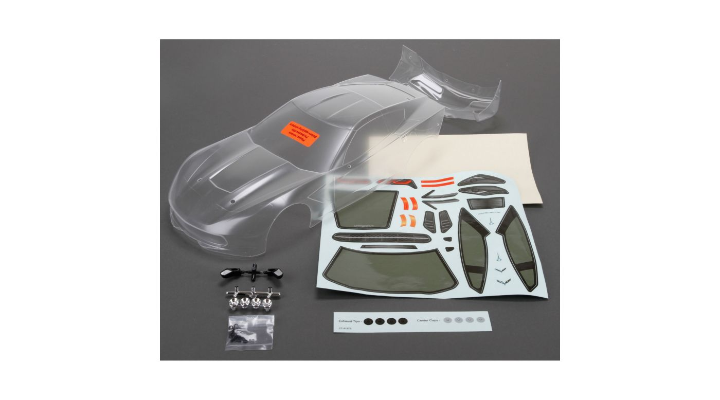 Image for Body Set, Clear: 1/10 2014 Chevrolet Corvette Z51 from HorizonHobby