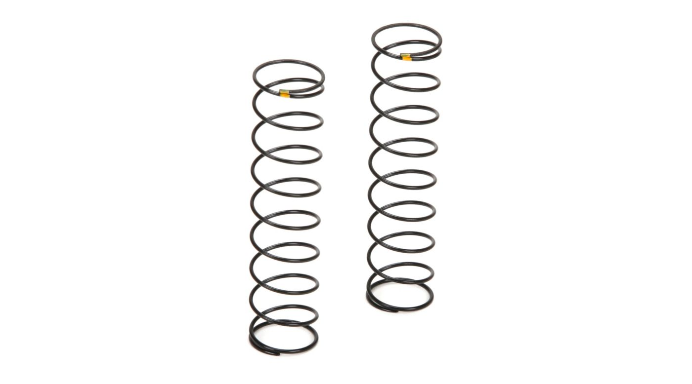 Image for Rear Shock Spring Soft Yellow (2): TWH from HorizonHobby