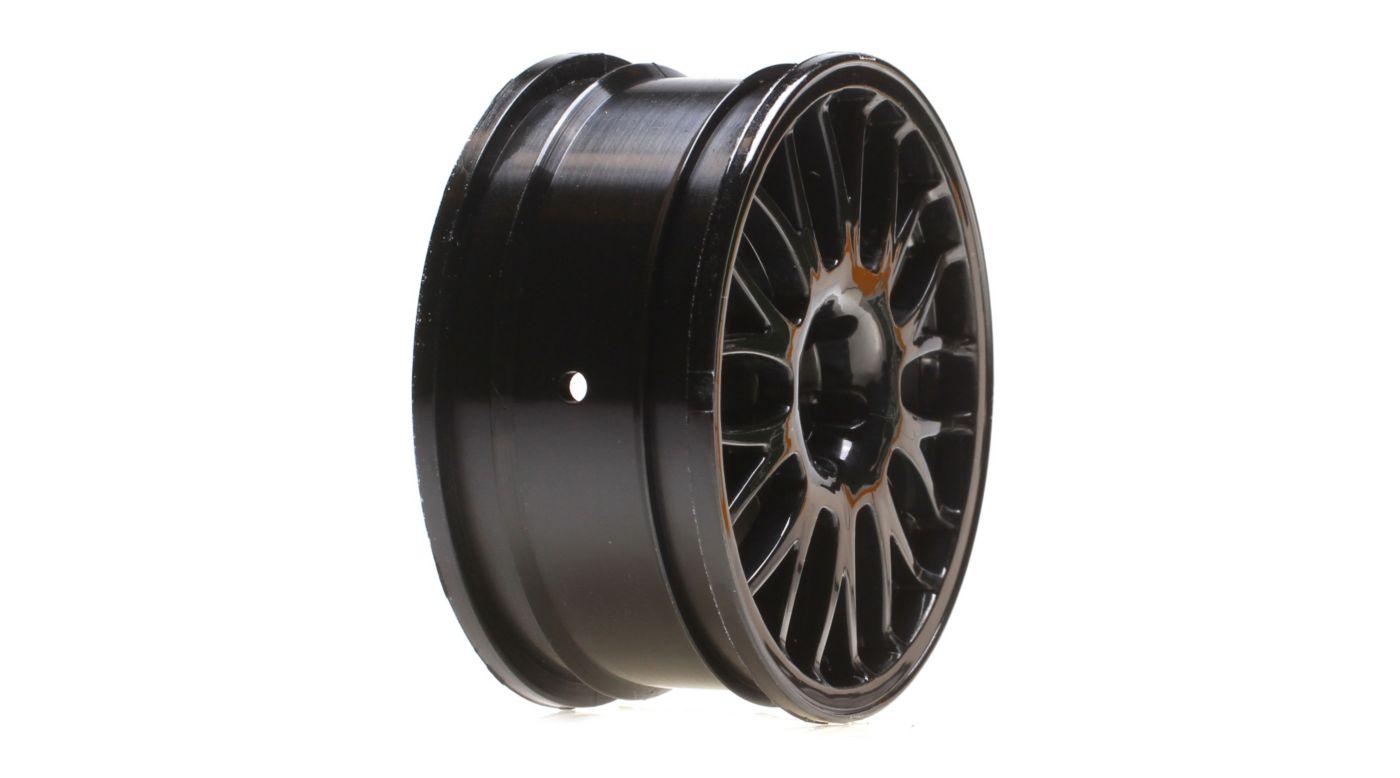 Image for Wheel Front/Rear, 54x26mm, Mesh, Black (2): V100 from HorizonHobby