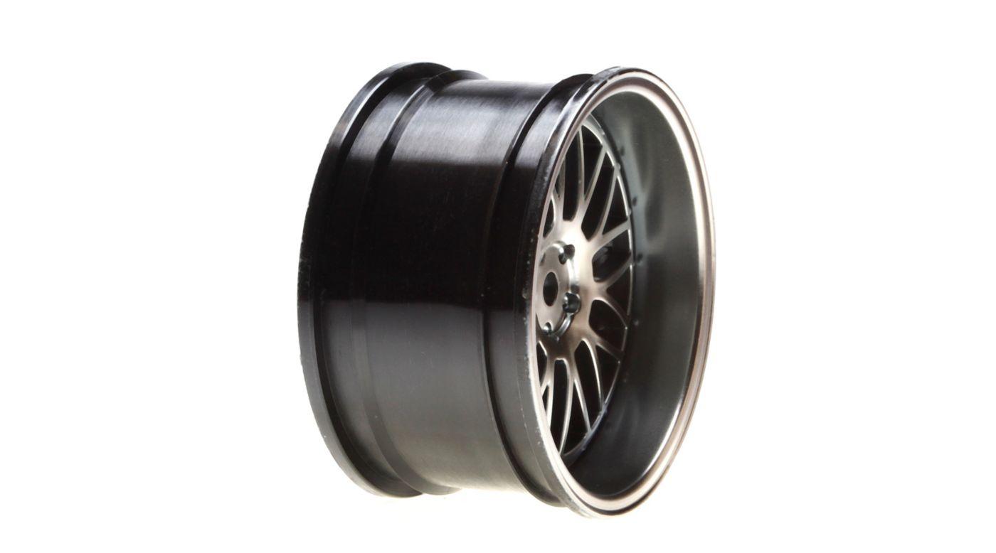 Image for Wheel Rear Deep Mesh 54x30mm, Matte Gun Metal (2): V100 from HorizonHobby