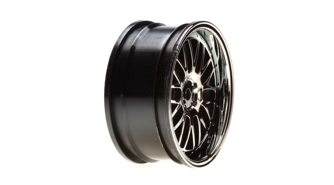 Image for Wheel Front, Deep Mesh, 54x26mm, Black Chrome (2): V100 from HorizonHobby