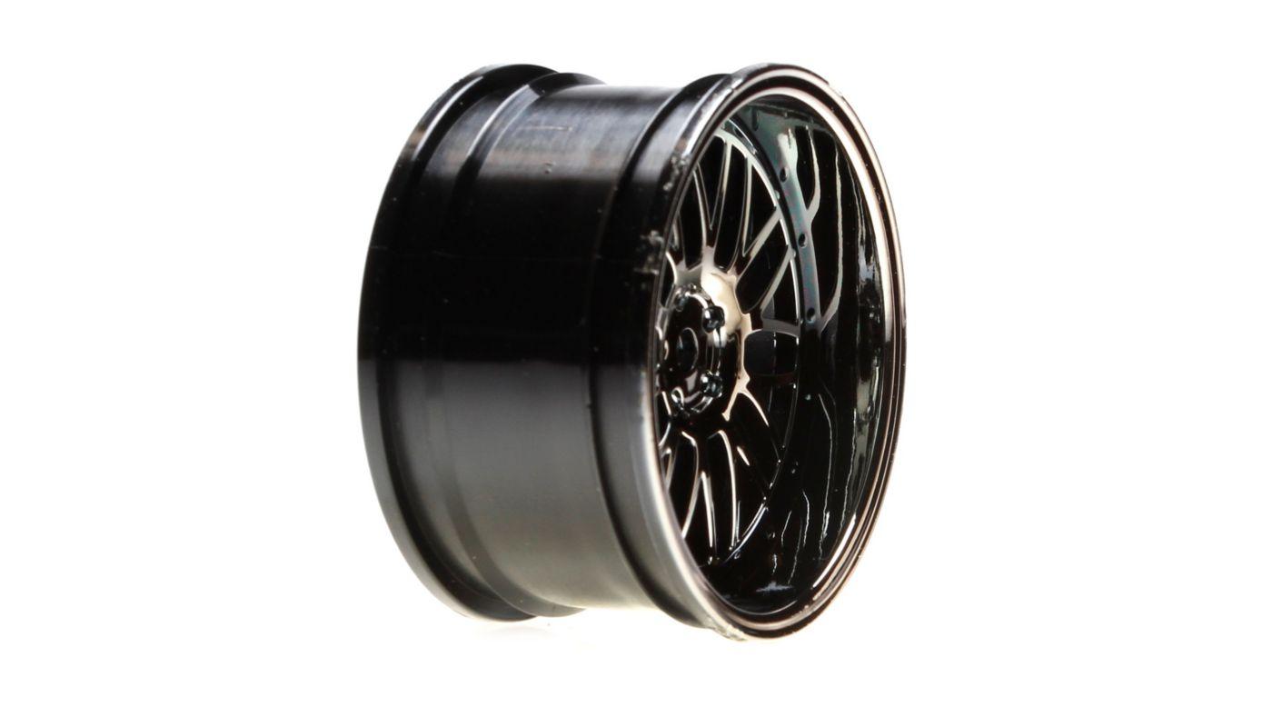 Image for Wheel Rear Deep Mesh 54x30mm, Black Chrome (2): V100 from HorizonHobby
