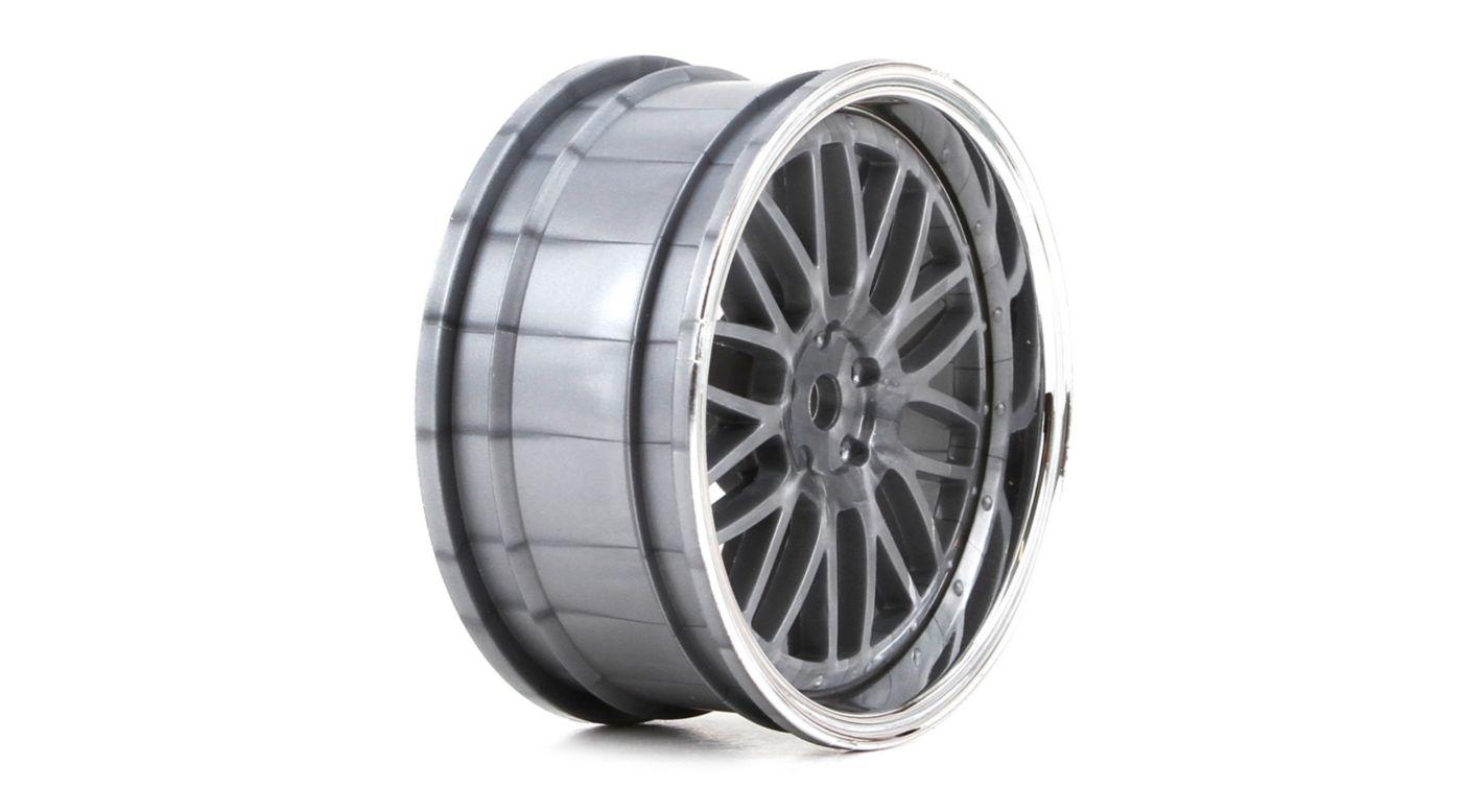 Image for Wheel FR Deep Mesh 54x26mm Chrome & Black (2) from HorizonHobby