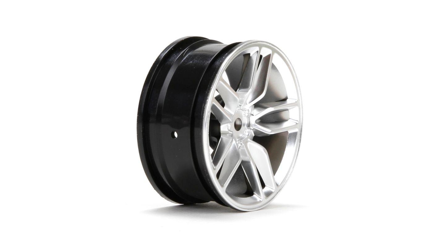 Image for Wheel, Front, 14' Corvette Z51 54 x 26mm Silver (2) from HorizonHobby