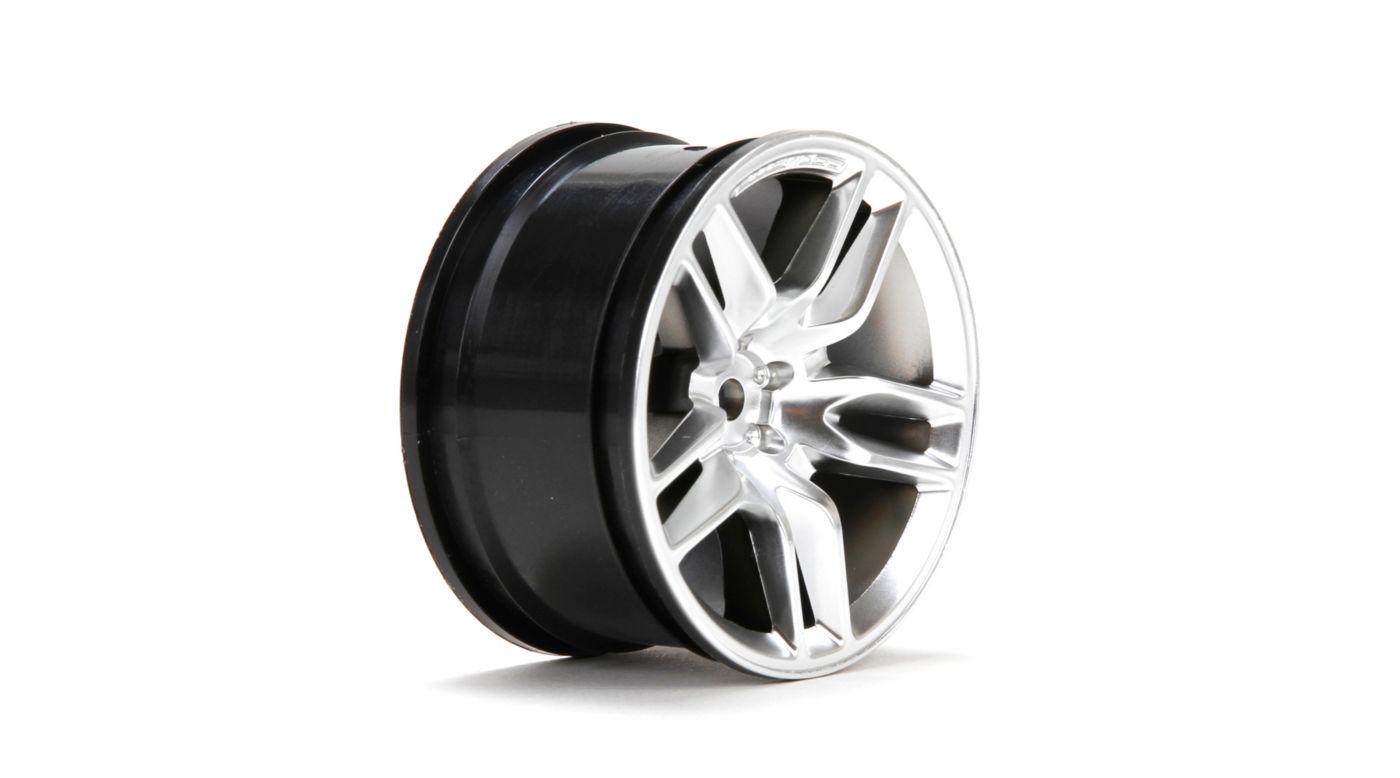 Image for Wheel, Rear, 14' Corvette Z51 54 x 30mm Silver (2) from HorizonHobby