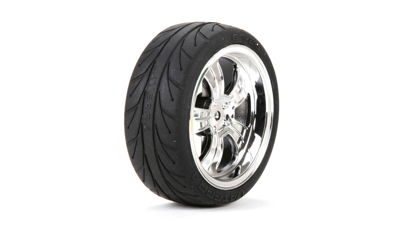Image for Mounted FR 5-Spoke Wheel/Tire 54x26mm Chrome (2) from Horizon Hobby