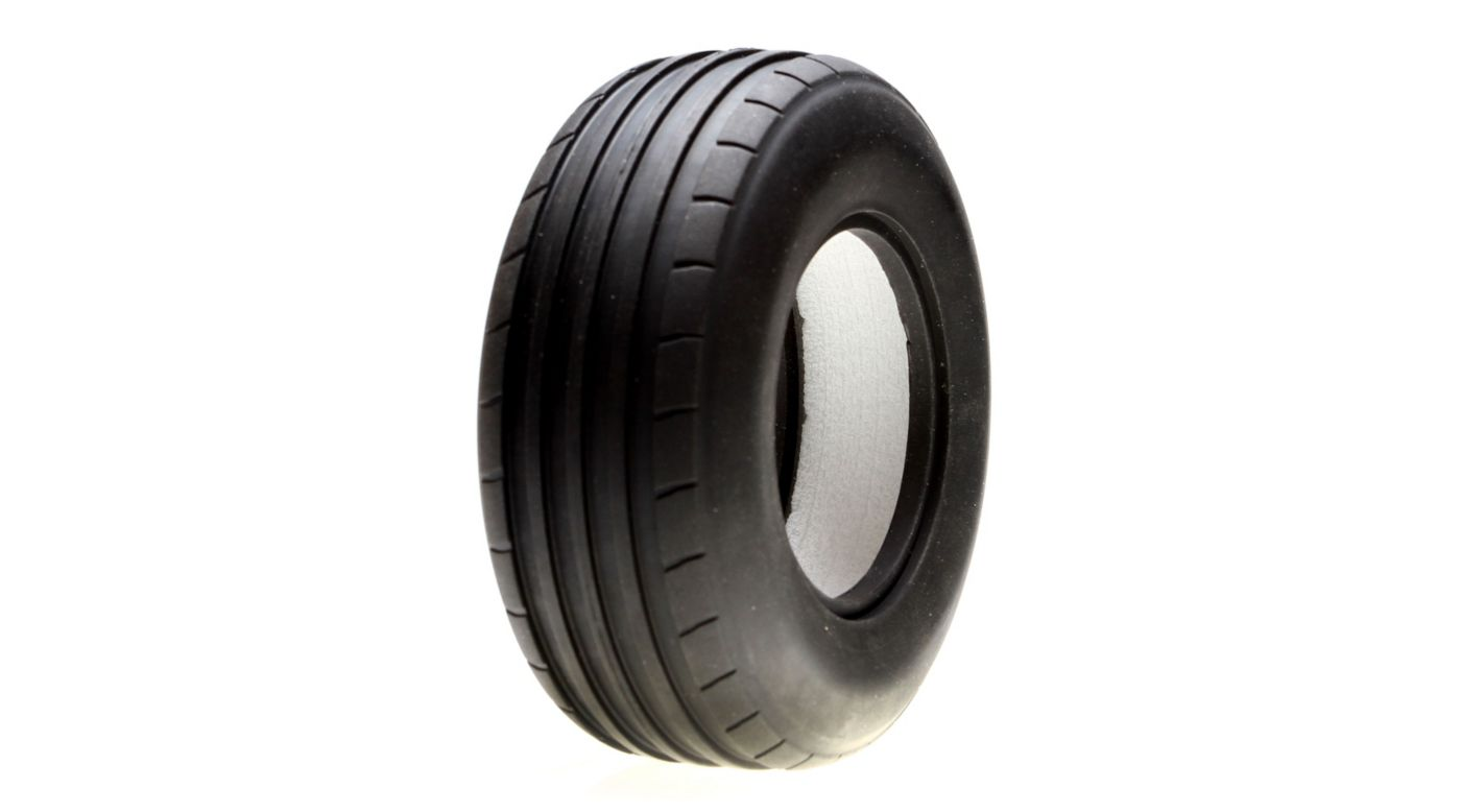 Image for Front Tire, Ribbed w/Foam, Med, 40mm (2): GLU, GLF from HorizonHobby