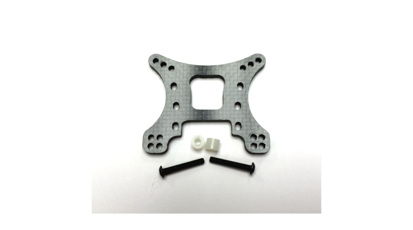 Image for Carbon Fiber Rear Shock Tower 3mm, Black: 10-T from HorizonHobby