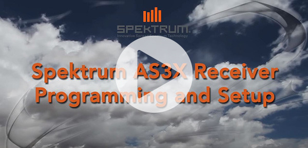Spektrum AS3X Receiver Programming and Setup