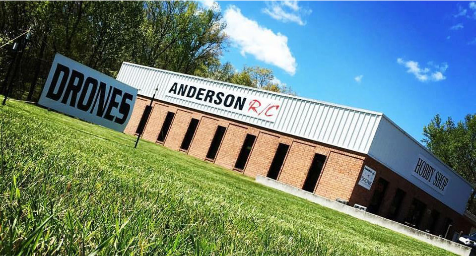 Anderson R/C - Outside the store.