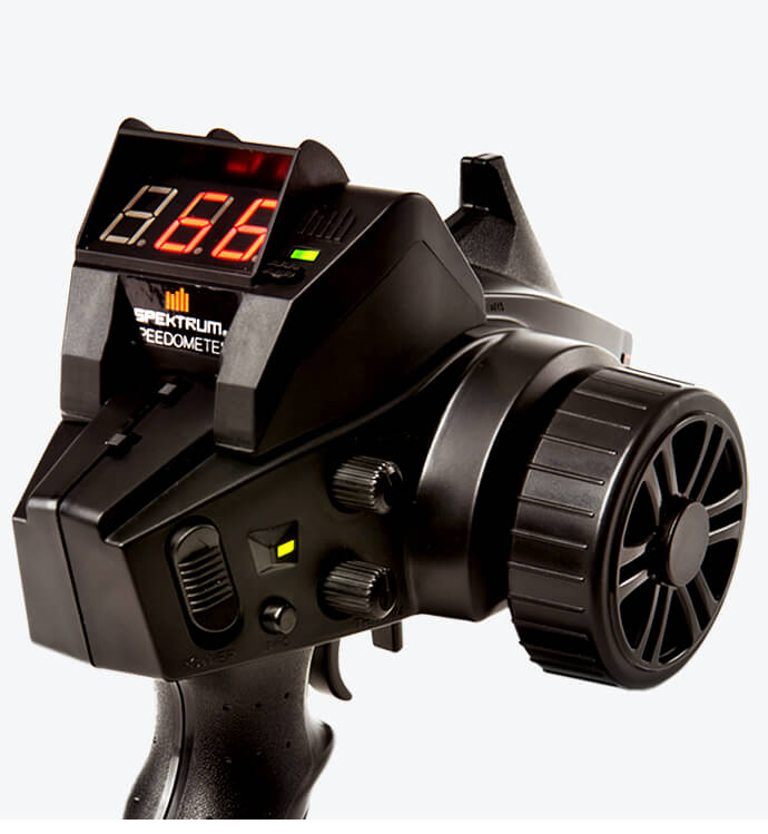 Equip your transmitter with the Spektrum Speedometer