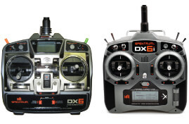 DX6 and DX6i transmitters
