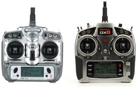 DX7 and DX8 transmitters