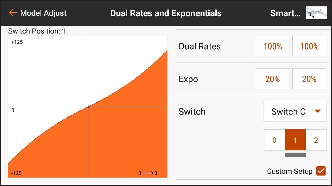 AirWare<sup>™</sup> Touch app Dual Rates and Exponentials