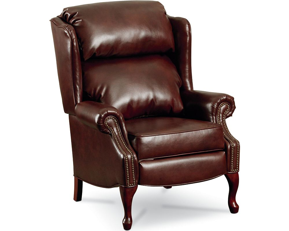Savannah High Leg Recliner Nailhead Trim