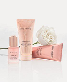 Laura Mercier Infusion de Rose skincare line with white rose