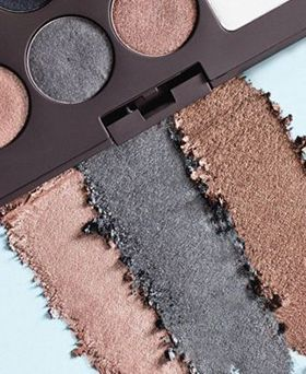 dark eye shadow palette with crushed eye shadow