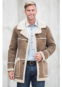 Ralph Shearling Sheepskin Rancher Coat