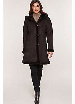 Krista Shearling Sheepskin Coat (Plus 18 - 20)