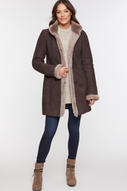 Katherine Spanish Merino Shearling Sheepskin Coat