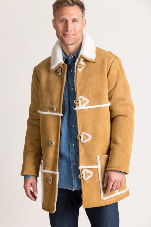 Bart Shearling Sheepskin Rancher Coat