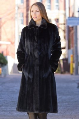 Augusta Long-Haired Mink Fur Coat